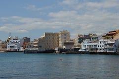 De stad van Gr Medano in de Canarische Eilanden van Tenerife Stock Foto's