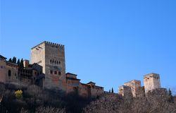 De stad van Granada, alhambra mening, Spanje stock afbeelding