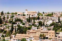 De Stad van Granada, Spanje Royalty-vrije Stock Afbeeldingen