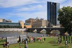 De stad in van Grand Rapids, Michigan royalty-vrije stock afbeelding