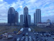 De stad van Grozny royalty-vrije stock foto
