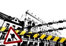 De stad van Grunge Royalty-vrije Stock Foto