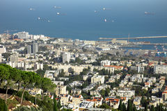 De stad van Haifa Royalty-vrije Stock Afbeelding