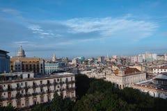 De stad van Havana in Cuba Stock Foto's