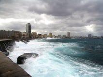 De stad van Havana (muur-overzees) stock afbeeldingen
