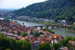 De Stad van Heidelberg Royalty-vrije Stock Afbeeldingen