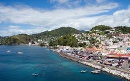 De stad van heilige George ` s - Grenada royalty-vrije stock afbeelding
