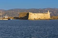 De stad van Heraklio bij het eiland van Kreta in Griekenland Stock Afbeeldingen