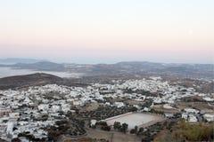 De Stad van het eiland van hierboven Stock Foto