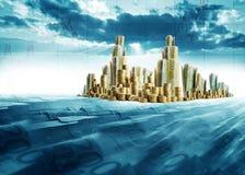 De stad van het geld royalty-vrije illustratie