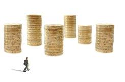 De stad van het geld Stock Afbeeldingen