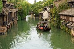 De stad van het Jiangnanwater wuzhen stock fotografie