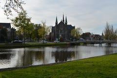 De stad van het landschapsalkmaar van Holland Stock Afbeelding