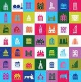De stad van het mozaïek stock illustratie
