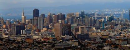 De stad in van het panorama van San Francisco Stock Afbeelding