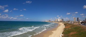 De stad van het strand Stock Afbeelding