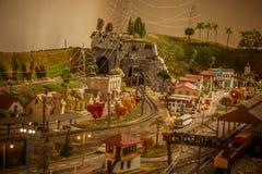 De stad van het stuk speelgoed stock foto