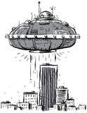 De Stad van het UFO Royalty-vrije Stock Foto