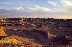 De Stad van het Xinjiangspook bij zonsondergang Stock Foto