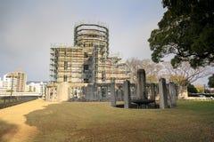 De stad van Hiroshima in Chugoku-gebied van het Eiland van Japan Honshu Beroemde atoombomkoepel royalty-vrije stock fotografie