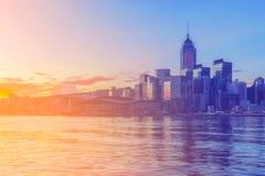 De Stad van Hongkong Royalty-vrije Stock Fotografie