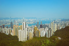 De Stad van Hongkong Royalty-vrije Stock Foto's