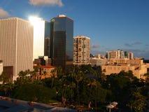 De Stad van Honolulu Royalty-vrije Stock Foto's