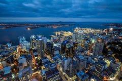 De stad van de horizonnieuw zeeland van Auckland scape stock afbeelding
