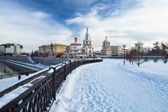 De stad van Irkoetsk stock afbeelding