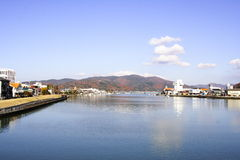 De Stad van Ishinomaki Royalty-vrije Stock Foto's