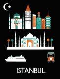 De Stad van Istanboel stock illustratie