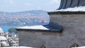 De stad van Istanboel bij Ochtend in Turkije wideshot stock video