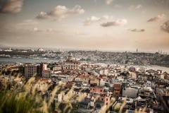 De stad van Istanboel van de hoogte Stock Afbeelding
