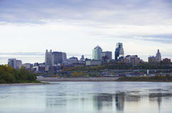 De stad van Kansas City Missouri scape royalty-vrije stock afbeelding