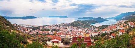 De stad van Kas, Turkije Royalty-vrije Stock Afbeeldingen