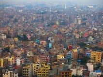 De stad van Katmandu Stock Foto's
