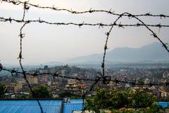 De stad van Katmandu Stock Afbeeldingen