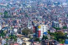 De stad van Katmandu in Nepal Stock Afbeeldingen