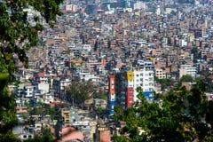 De stad van Katmandu in Nepal Stock Foto