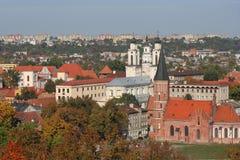 De stad van Kaunas Royalty-vrije Stock Afbeelding