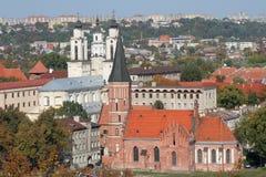 De stad van Kaunas Stock Afbeelding