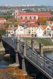 De stad van Kaunas Stock Fotografie