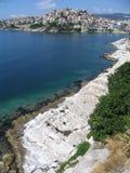 De stad van Kavala Stock Afbeelding