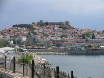 De stad van Kavala Stock Fotografie