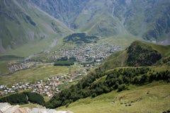 De stad van Kazbegi Royalty-vrije Stock Foto