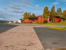 De stad van Kemi in Finland Stock Foto's