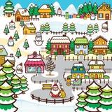 De Stad van Kerstmis Stock Afbeeldingen