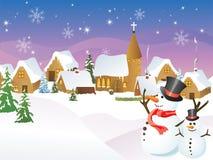 De stad van Kerstmis Royalty-vrije Stock Afbeelding