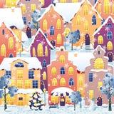 De stad van Kerstmis Stock Afbeelding