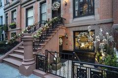 De Stad van Kerstmisnew york Stock Foto's